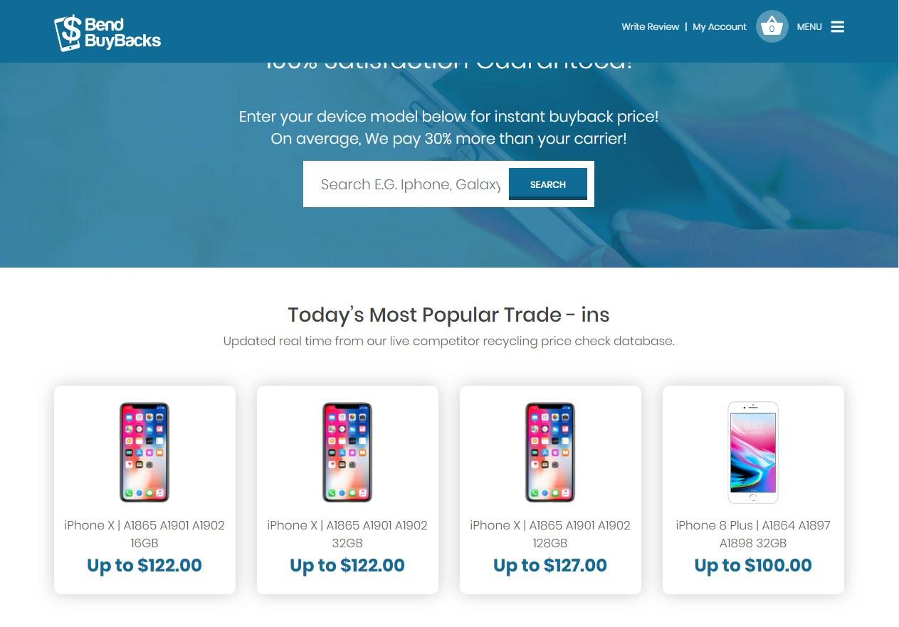 Bend Buybacks Website Template