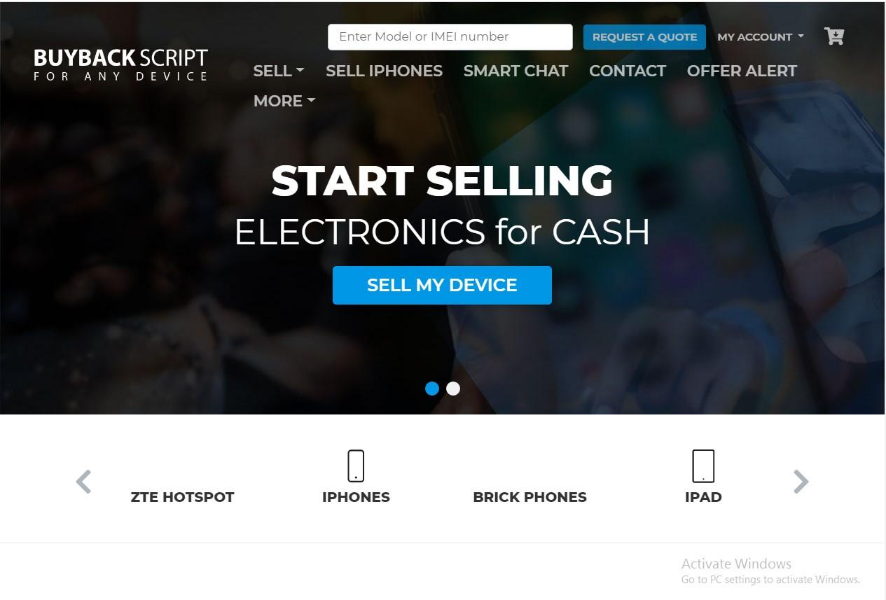Buyback website Demo 3